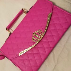 Handbags - Pink quilted leather handbag